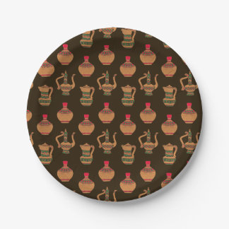 The Ethnic Water Jug Pottery 7 Inch Paper Plate