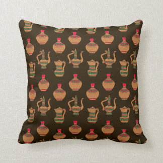 The Ethnic Water Jug Pottery Throw Cushions