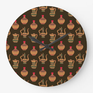 The Ethnic Water Jug Pottery Wall Clocks