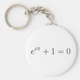 The Euler formula Basic Round Button Key Ring