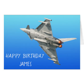 The Eurofighter Typhoon Birthday personalised Card