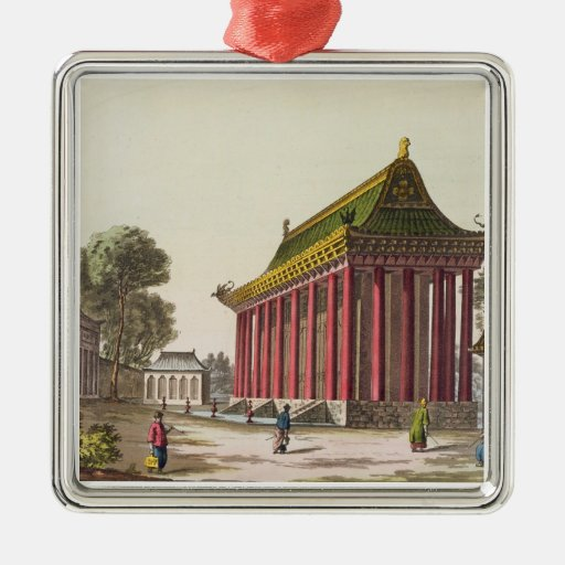The 'European Palace' at Yuen-Ming-Yuan, illustrat Christmas Tree Ornaments