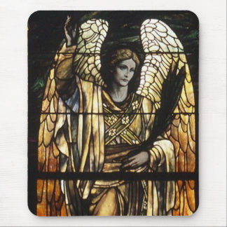 The Evening Angel Stained Glass Mouse Pad