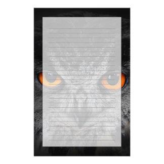 The Evil Eyes. ( Eagle Owl, Bubo Bubo) Customized Stationery