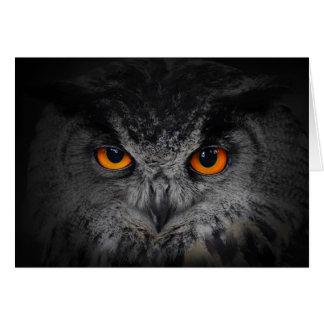The Evil Eyes. ( Eagle Owl, Bubo Bubo) Greeting Card