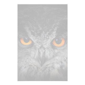 The Evil Eyes. ( Eagle Owl, Bubo Bubo) Personalized Stationery