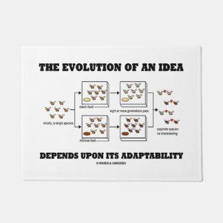 The Evolution An Idea Depends Upon Adaptability Doormat
