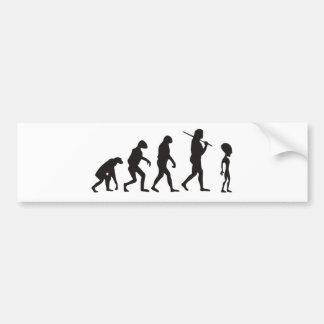 The Evolution Of Alien Bumper Sticker