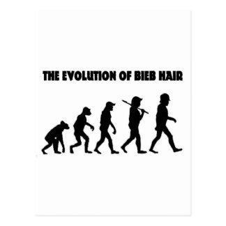 The Evolution of B Hair Postcard