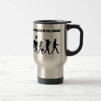 The Evolution Of Cell Phones Travel Mug