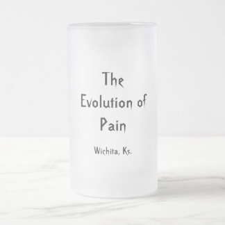 The Evolution of Pain, Wichita, Ks. Frosted Glass Beer Mug