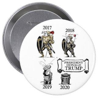 The Evolution of President Trump 10 Cm Round Badge