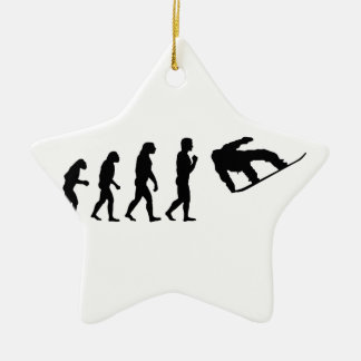 The Evolution Snowboarding Ceramic Ornament