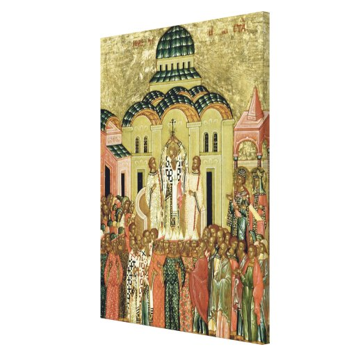 The Exaltation of the Cross Stretched Canvas Print