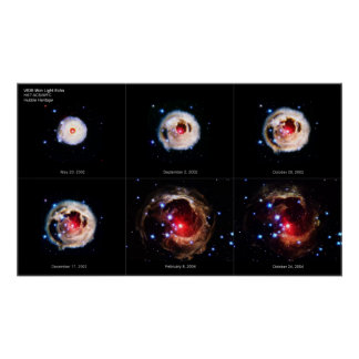 The Expanding Light Echo of Red Supergiant Star  Poster