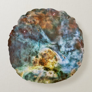 The Exploding Nebula and Planets Round Cushion