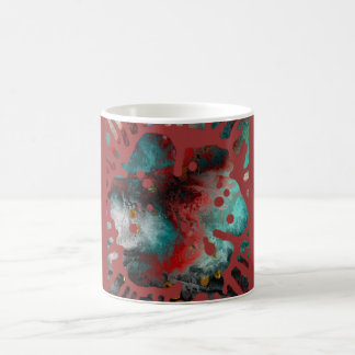 The explosion of the paint flower coffee mug