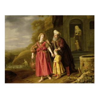 The Expulsion of Hagar and Ishmael, c.1644 Postcard