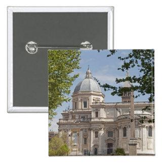 The exterior of Saint Maria Maggiore church in 15 Cm Square Badge