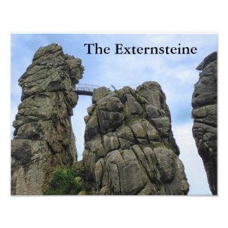 The Externsteine, Typo 002.04, Teutoburg Forest Photo Print