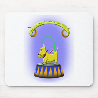 the extraordinary human footed scottie dog mouse pad