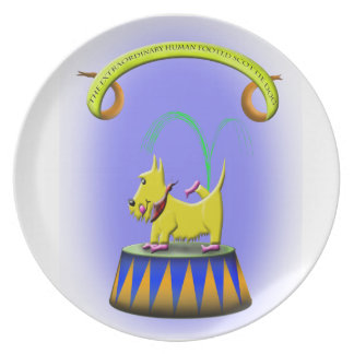 the extraordinary human footed scottie dog plate