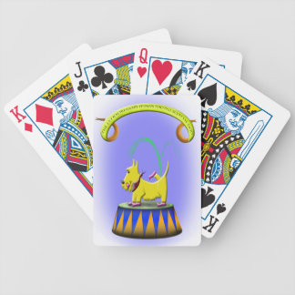 the extraordinary human footed scottie dog poker deck