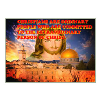 The Extraordinary Person Of Christ. Photographic Print