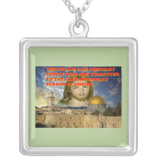 The Extraordinary Person Of Christ. Silver Plated Necklace