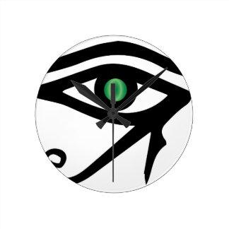 The Eye of Ra Round Clock