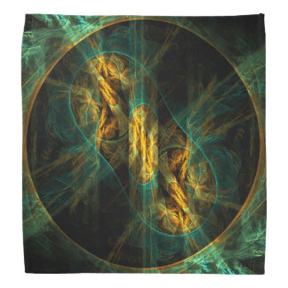 The Eye of the Jungle Abstract Art Bandannas