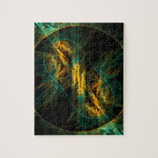 The Eye of the Jungle Abstract Art Jigsaw Puzzle