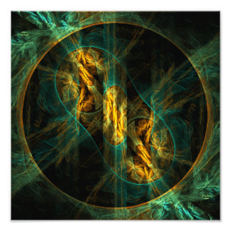 The Eye of the Jungle Abstract Art Photo Print
