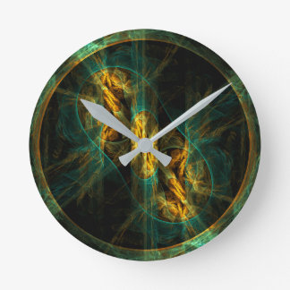 The Eye of the Jungle Abstract Art Round Round Clock
