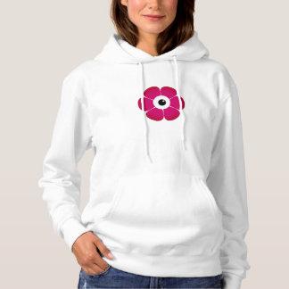 the eye of the pink flower hoodie