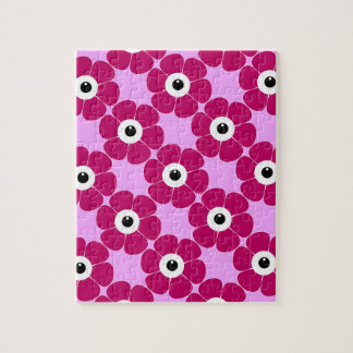 the eye of the pink flower jigsaw puzzle