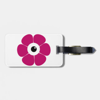 the eye of the pink flower luggage tag