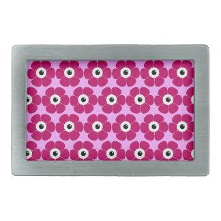 the eye of the pink flower rectangular belt buckle