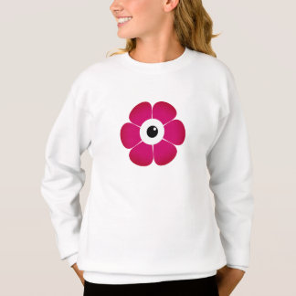 the eye of the pink flower sweatshirt