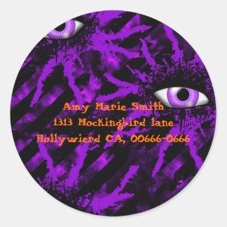The Eyes Have It Goth Halloween Round Sticker