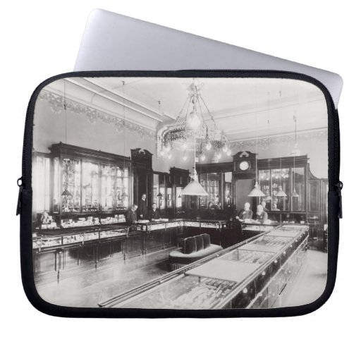 The Faberge Emporium (b/w photo) Laptop Sleeves
