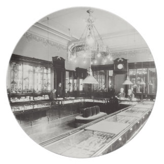 The Faberge Emporium (b/w photo) Party Plate