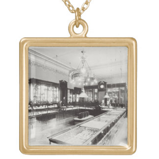 The Faberge Emporium (b/w photo) Square Pendant Necklace