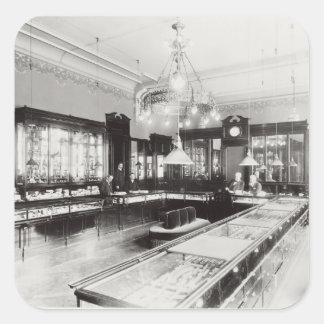 The Faberge Emporium (b/w photo) Square Sticker
