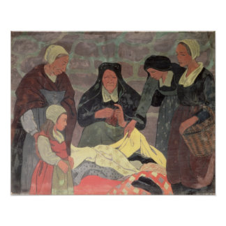 The Fabric Seller, c.1898 Poster