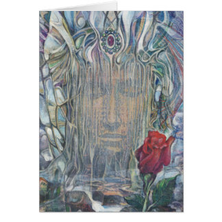 The Face and The Flower Card