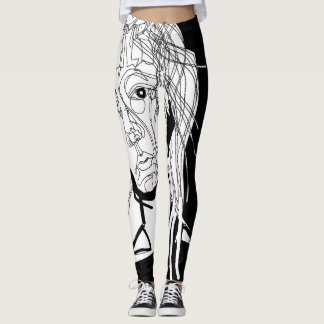 The Face Art Print Unisex Legging