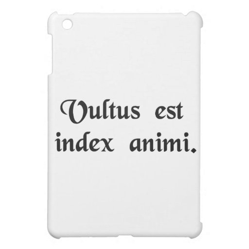 The face is the index of the soul. iPad mini case