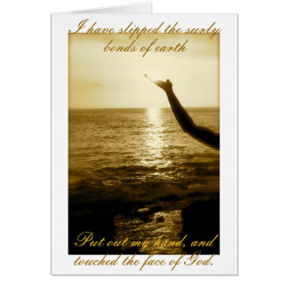 The Face of God - consolation and sympathy Card