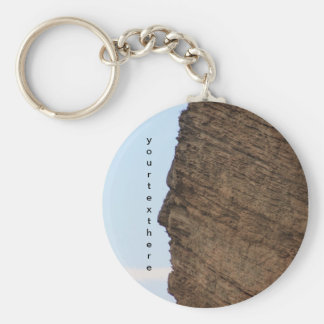 The Face of Monte Falcone, Italy Basic Round Button Key Ring
